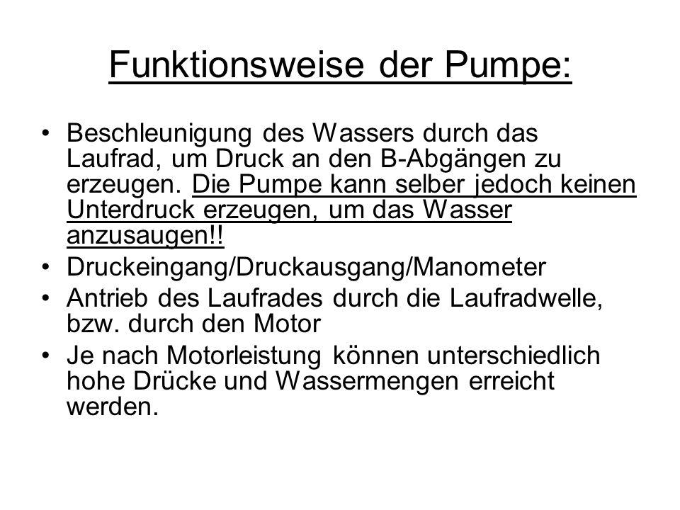 Funktionsweise der Pumpe: