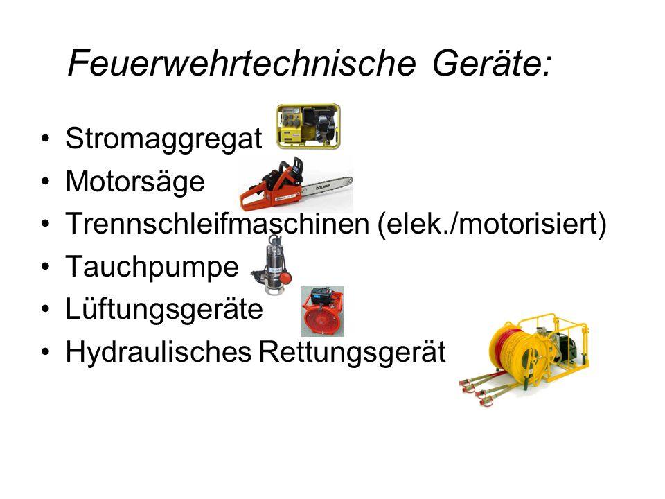 Feuerwehrtechnische Geräte: