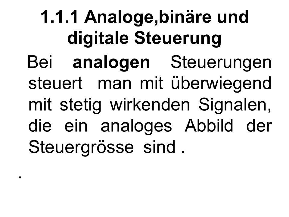 1.1.1 Analoge,binäre und digitale Steuerung