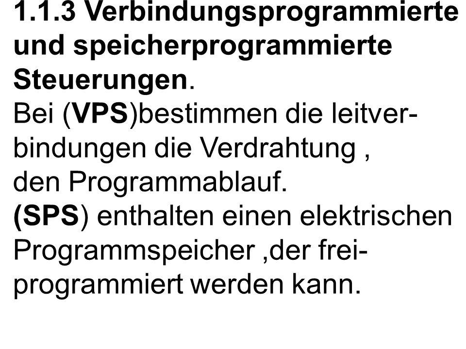 1. 1. 3 Verbindungsprogrammierte und speicherprogrammierte Steuerungen