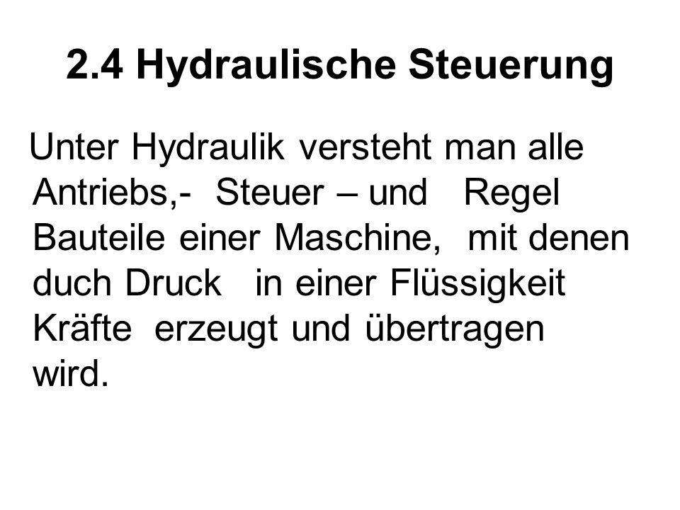 2.4 Hydraulische Steuerung