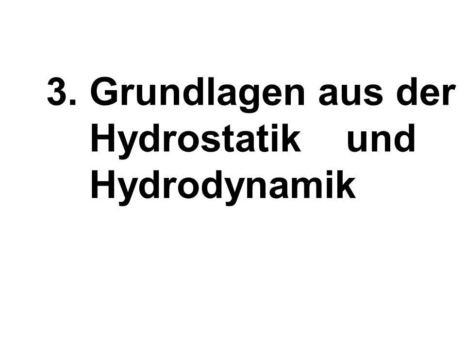 3. Grundlagen aus der Hydrostatik und Hydrodynamik