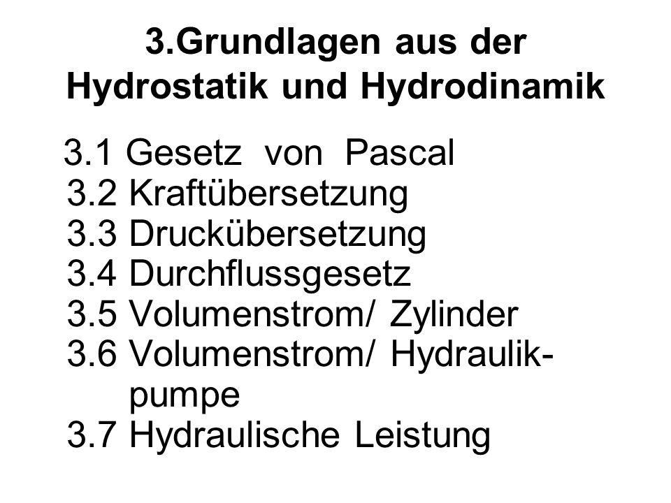 3.Grundlagen aus der Hydrostatik und Hydrodinamik