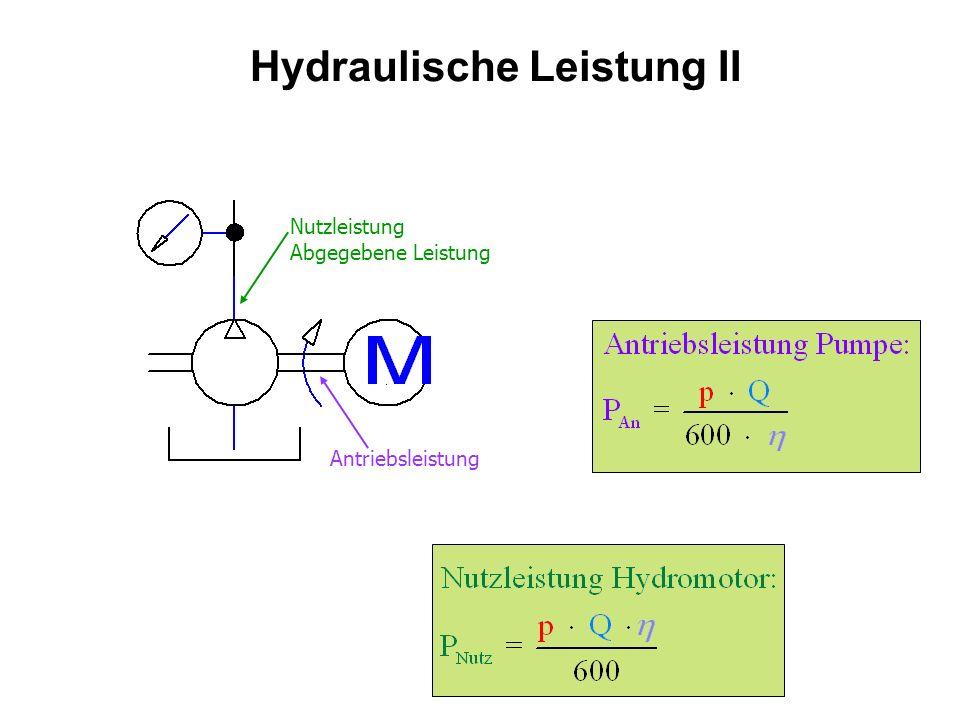 Hydraulische Leistung II