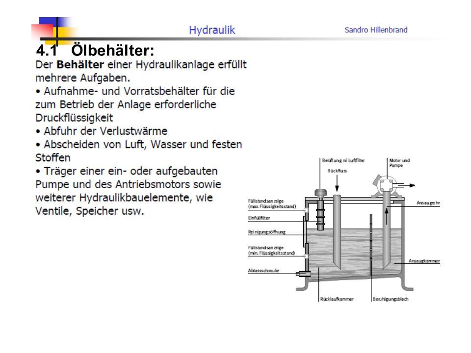 4.1 Ölbehälter: