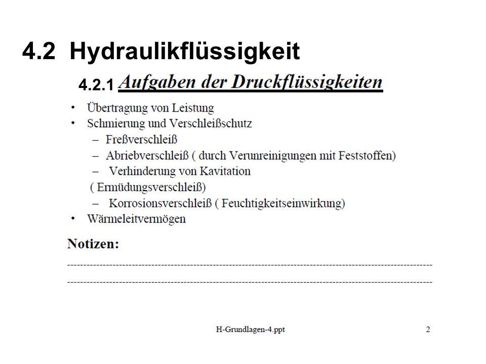4.2 Hydraulikflüssigkeit