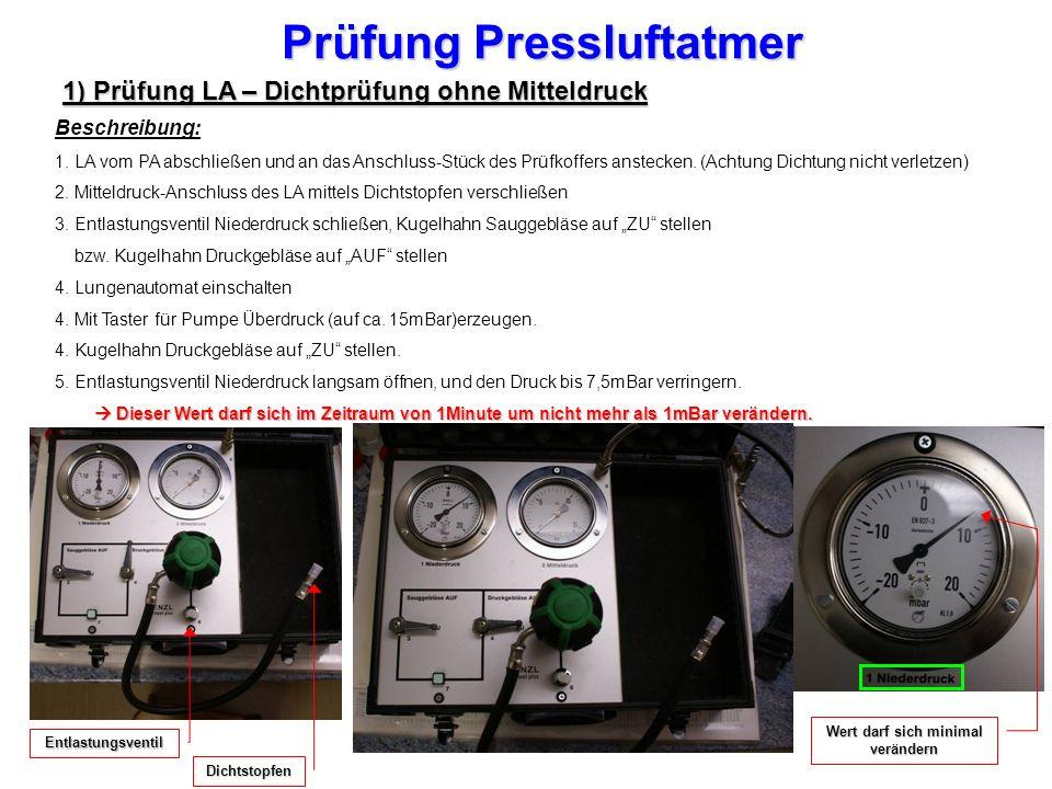 Prüfung Pressluftatmer