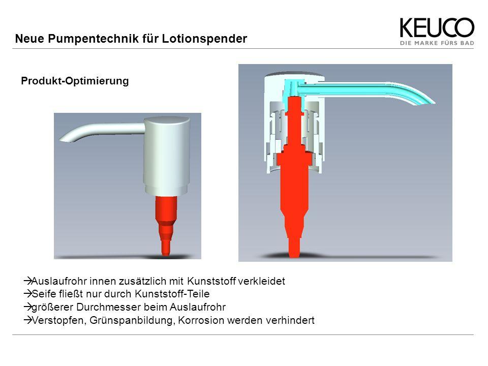 Neue Pumpentechnik für Lotionspender