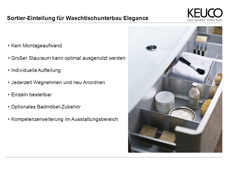 Sortier-Einteilung für Waschtischunterbau Elegance