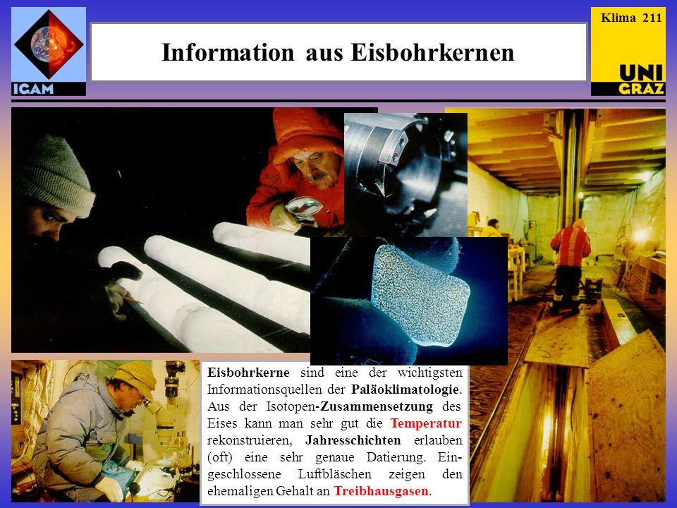 Information aus Eisbohrkernen