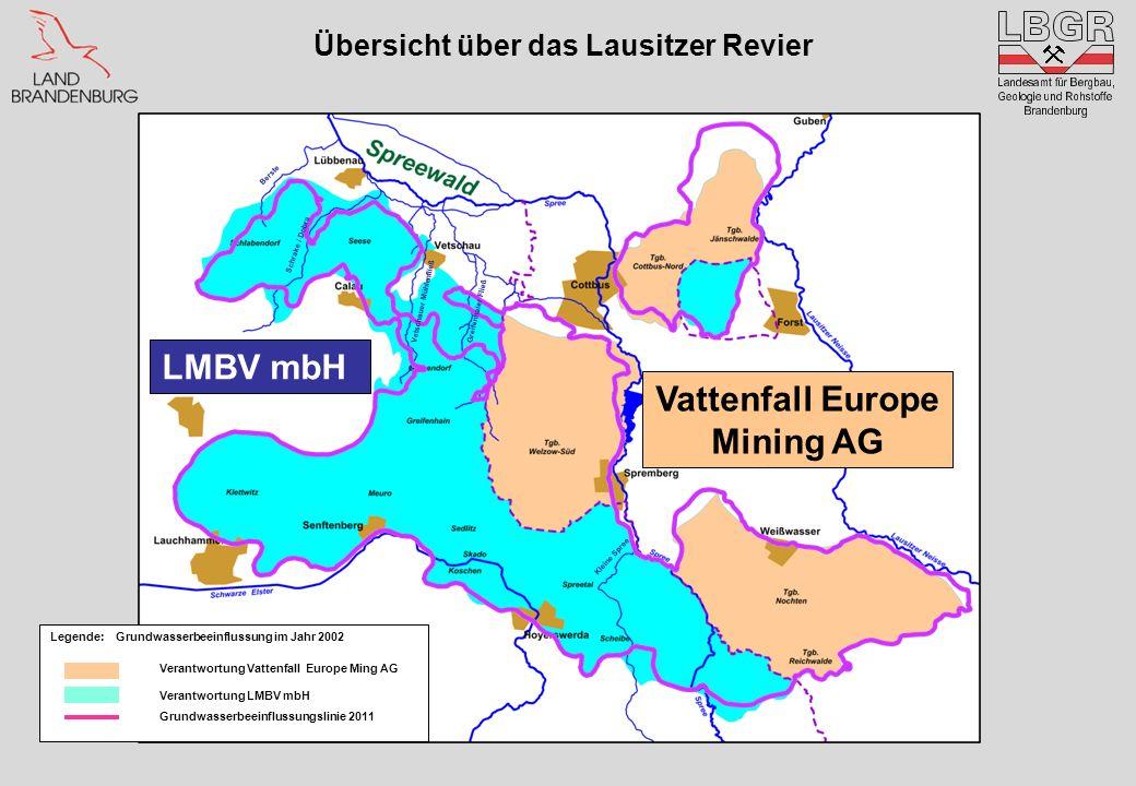 Übersicht über das Lausitzer Revier Vattenfall Europe Mining AG