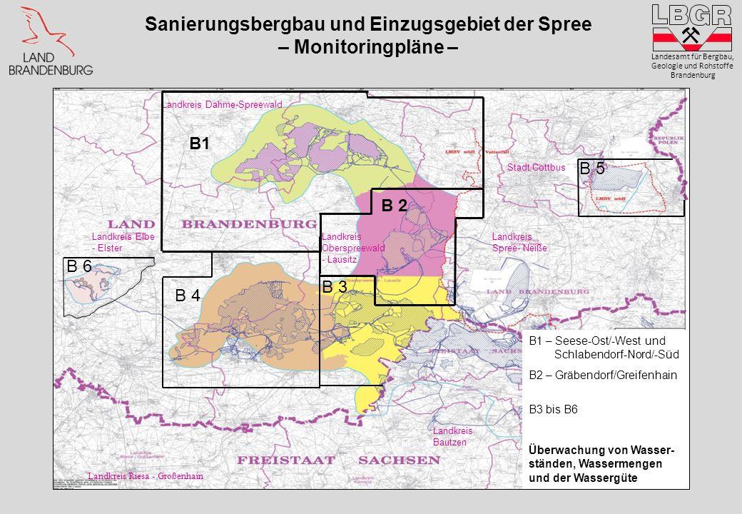 Sanierungsbergbau und Einzugsgebiet der Spree – Monitoringpläne –