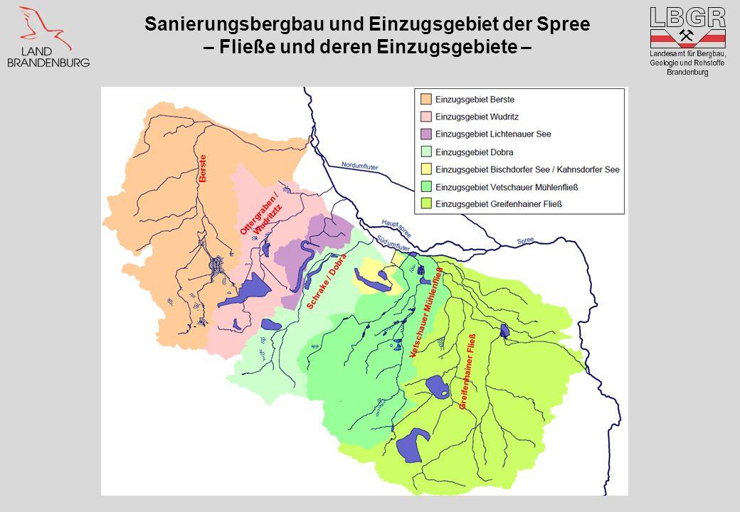 Sanierungsbergbau und Einzugsgebiet der Spree