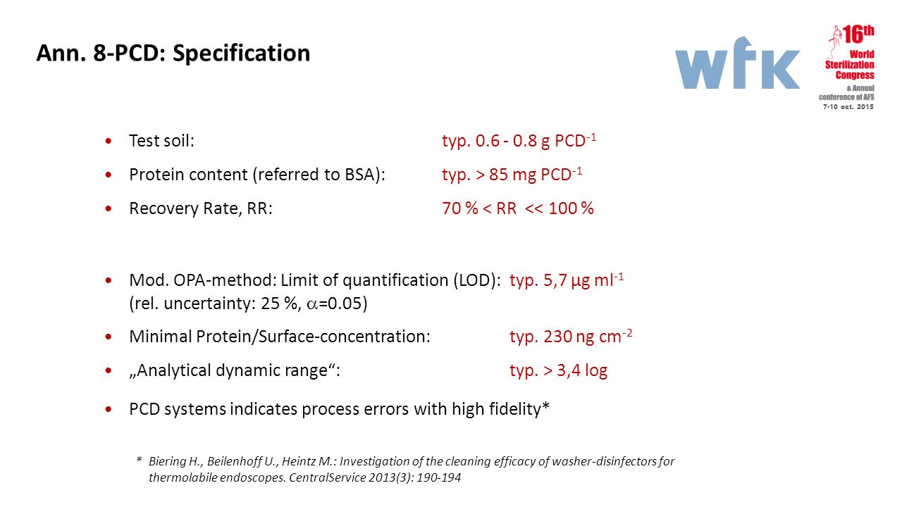 Ann. 8-PCD: Specification