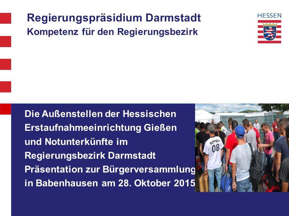 Regierungspräsidium Darmstadt Kompetenz für den Regierungsbezirk