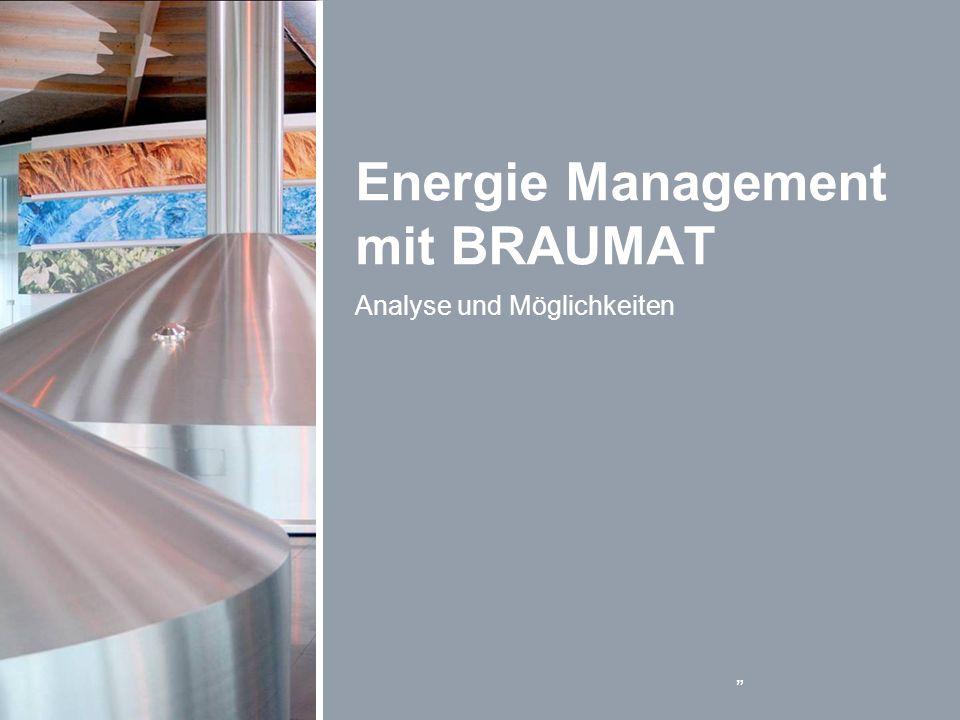 Energie Management mit BRAUMAT