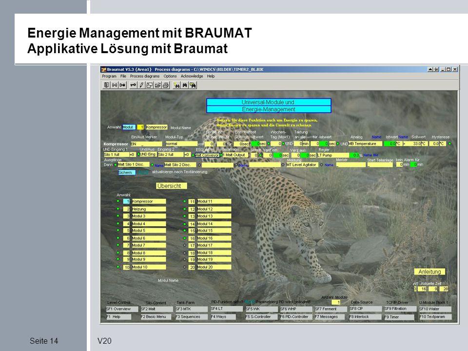 Energie Management mit BRAUMAT Applikative Lösung mit Braumat