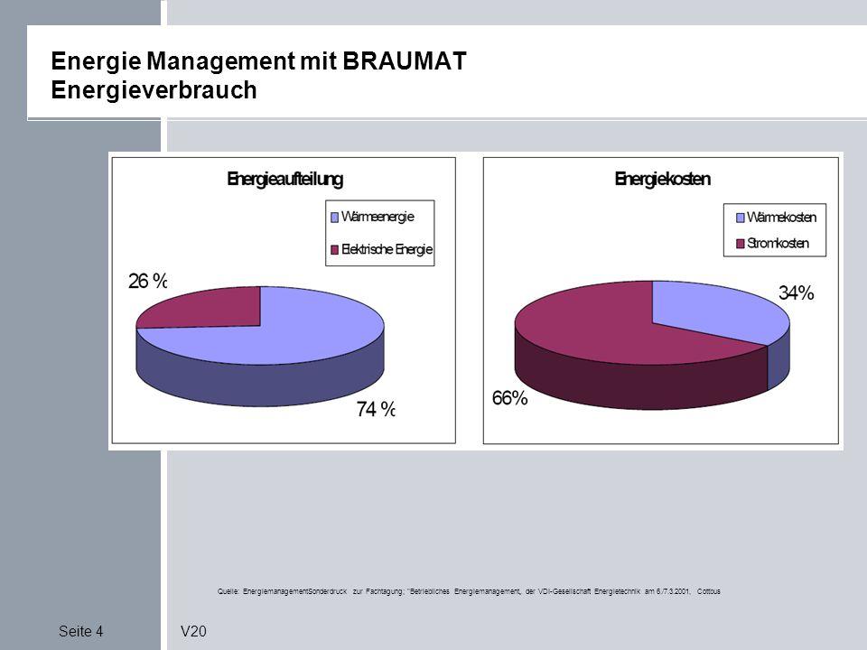 Energie Management mit BRAUMAT Energieverbrauch