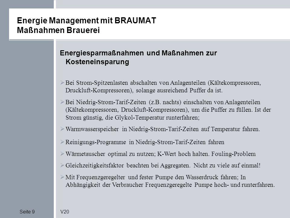 Energie Management mit BRAUMAT Maßnahmen Brauerei