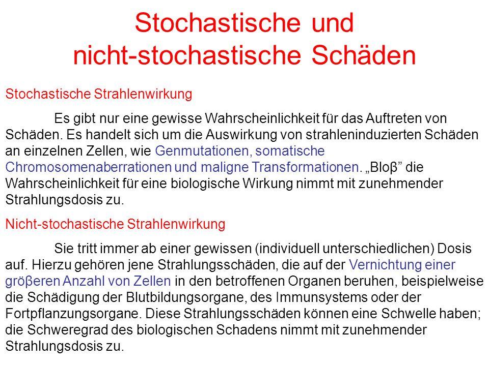 Stochastische und nicht-stochastische Schäden