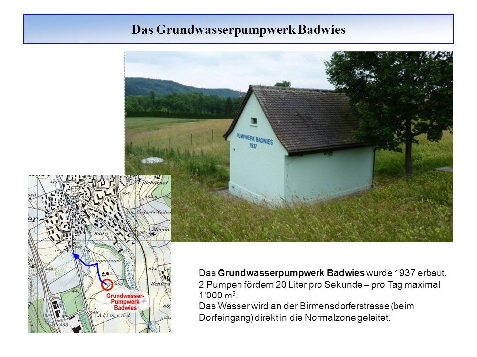 Das Grundwasserpumpwerk Badwies