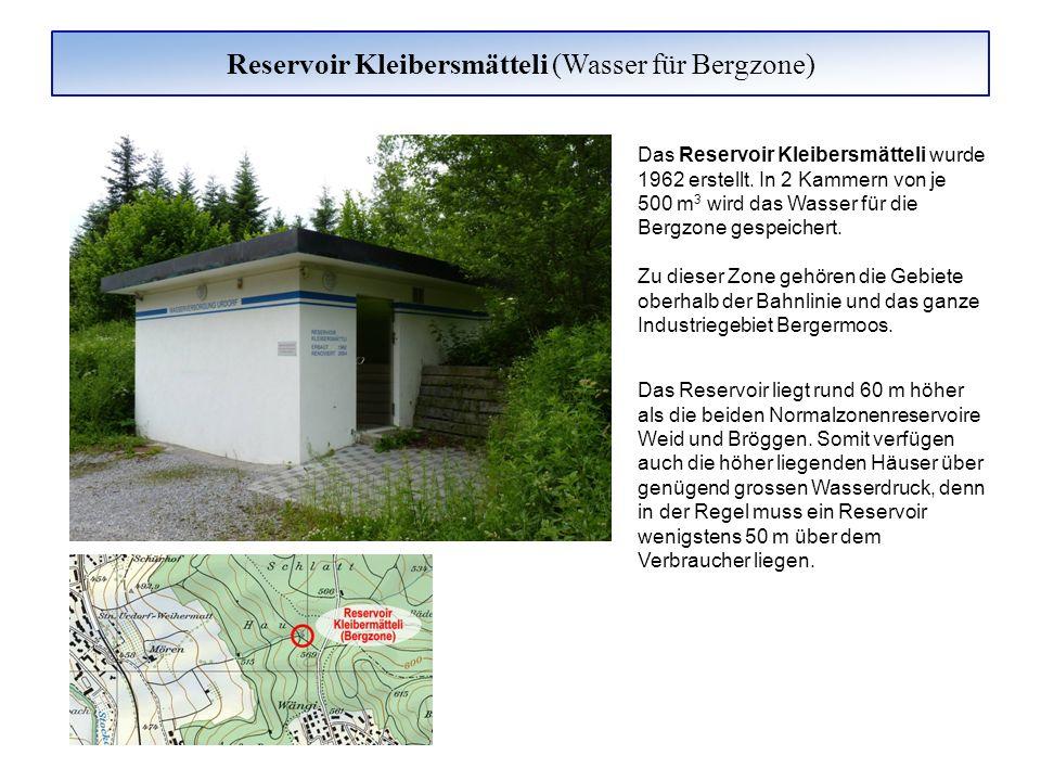 Reservoir Kleibersmätteli (Wasser für Bergzone)