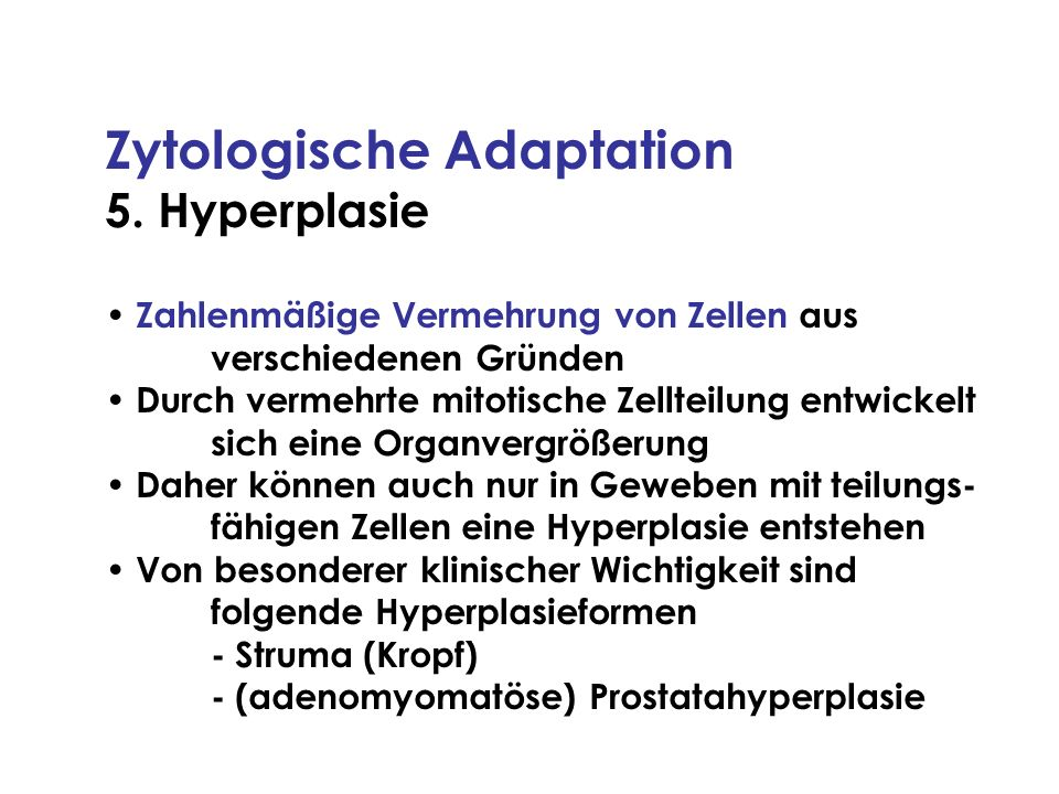 Zytologische Adaptation