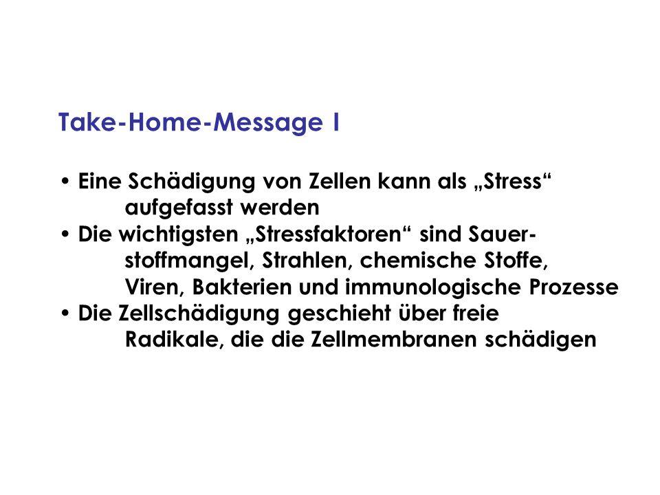 """Take-Home-Message I Eine Schädigung von Zellen kann als """"Stress"""
