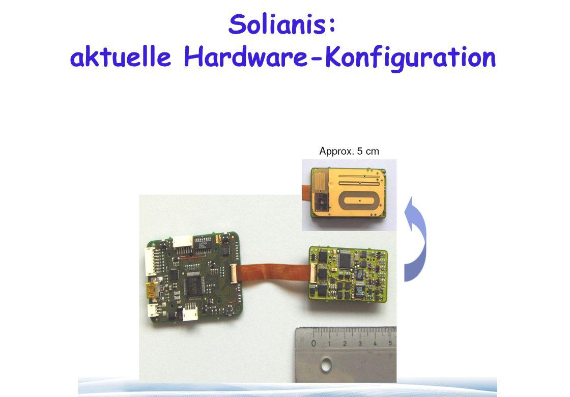 Solianis: aktuelle Hardware-Konfiguration