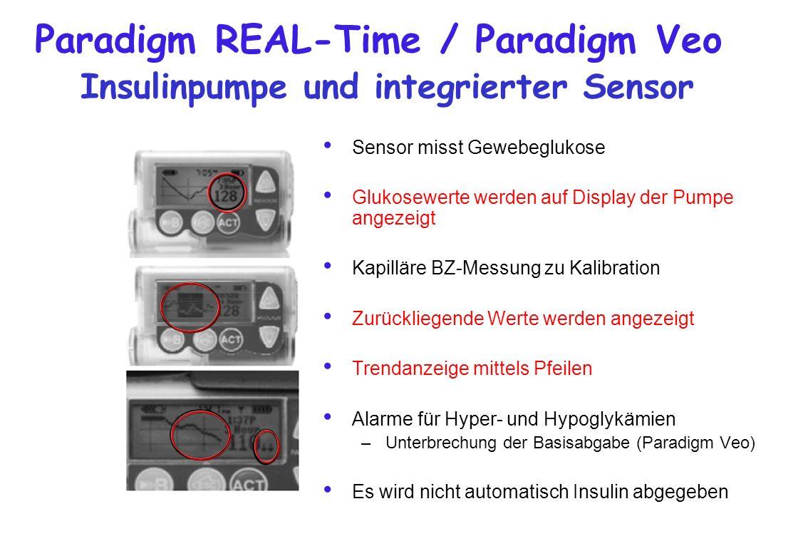Paradigm REAL-Time / Paradigm Veo Insulinpumpe und integrierter Sensor