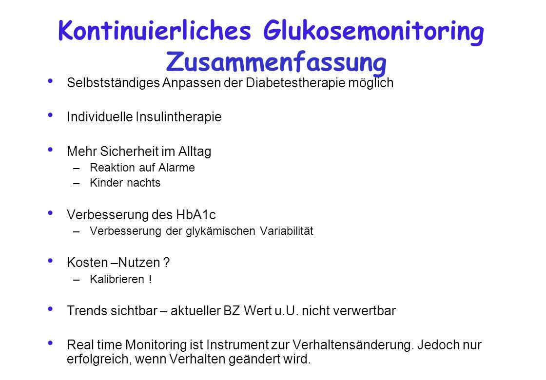 Kontinuierliches Glukosemonitoring Zusammenfassung