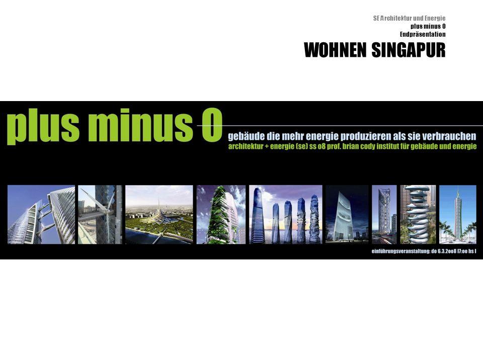 SE Architektur und Energie plus minus 0 Endpräsentation WOHNEN SINGAPUR
