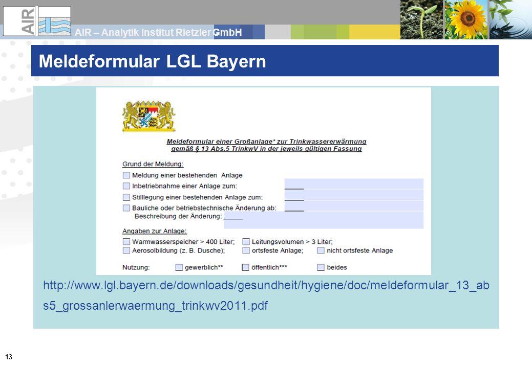 Meldeformular LGL Bayern