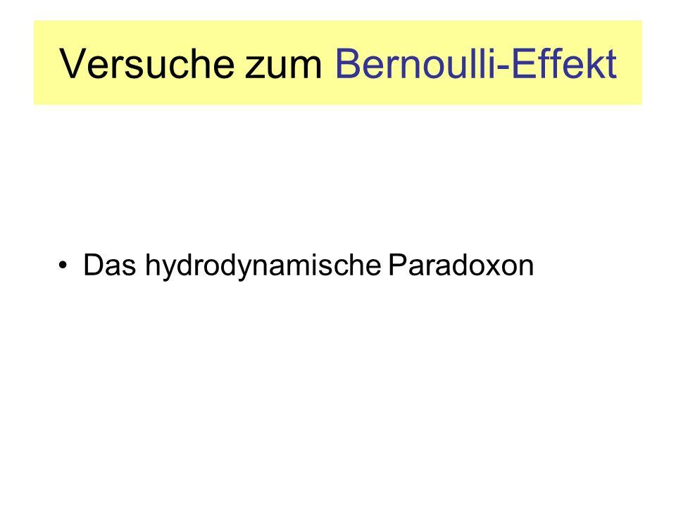 Versuche zum Bernoulli-Effekt