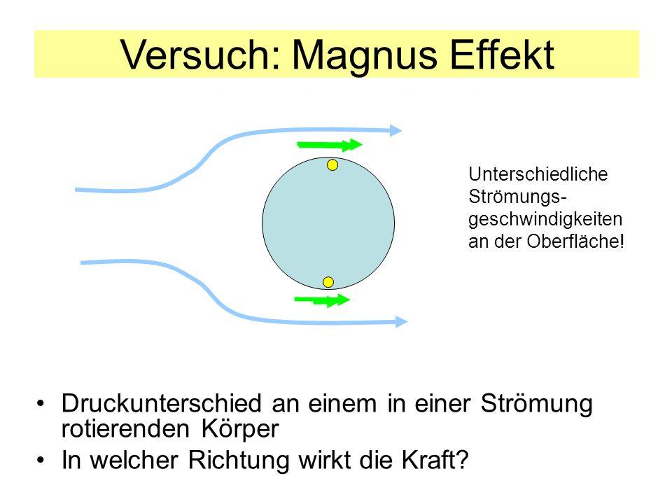 Versuch: Magnus Effekt