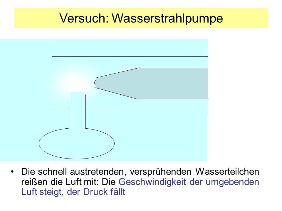 Versuch: Wasserstrahlpumpe