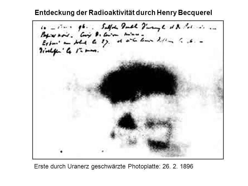 Entdeckung der Radioaktivität durch Henry Becquerel