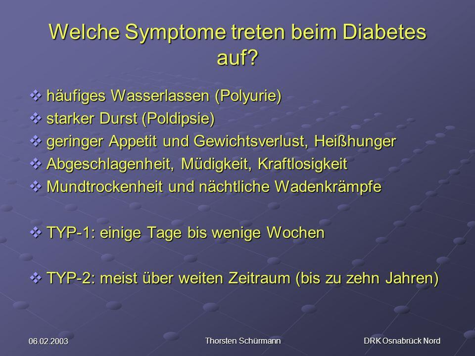 Welche Symptome treten beim Diabetes auf