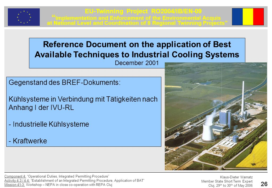Reference Document on the application of Best Available Techniques to Industrial Cooling Systems