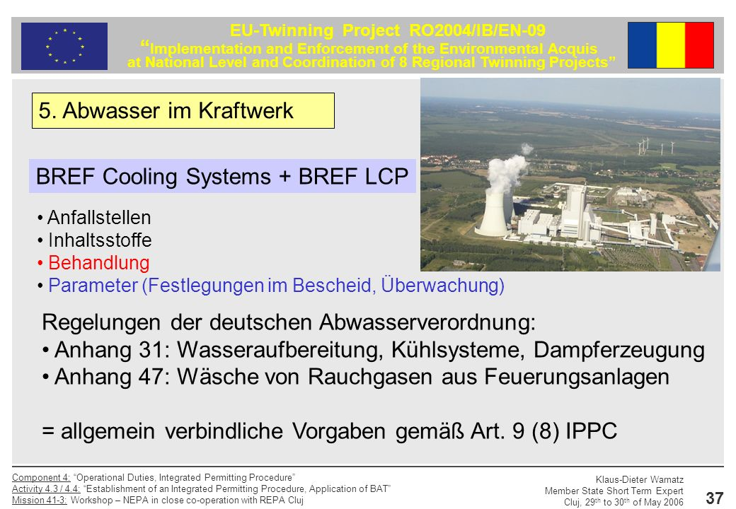 BREF Cooling Systems + BREF LCP