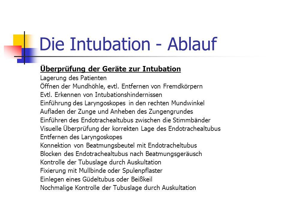 Die Intubation - Ablauf