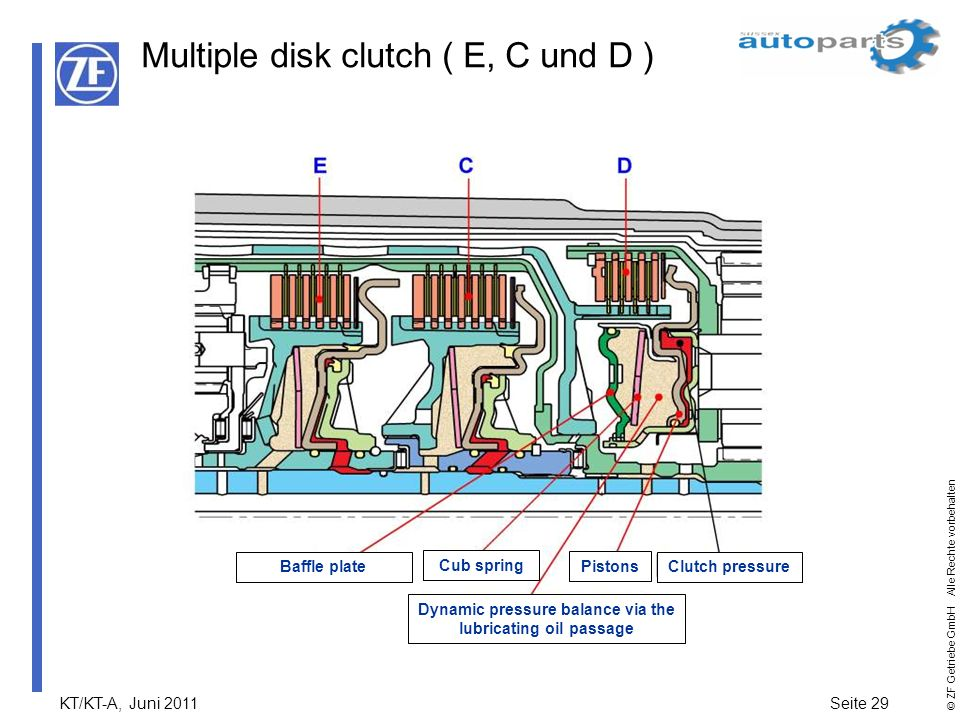 Multiple disk clutch ( E, C und D )