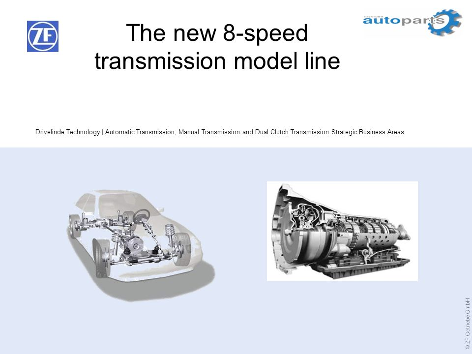 The new 8-speed transmission model line