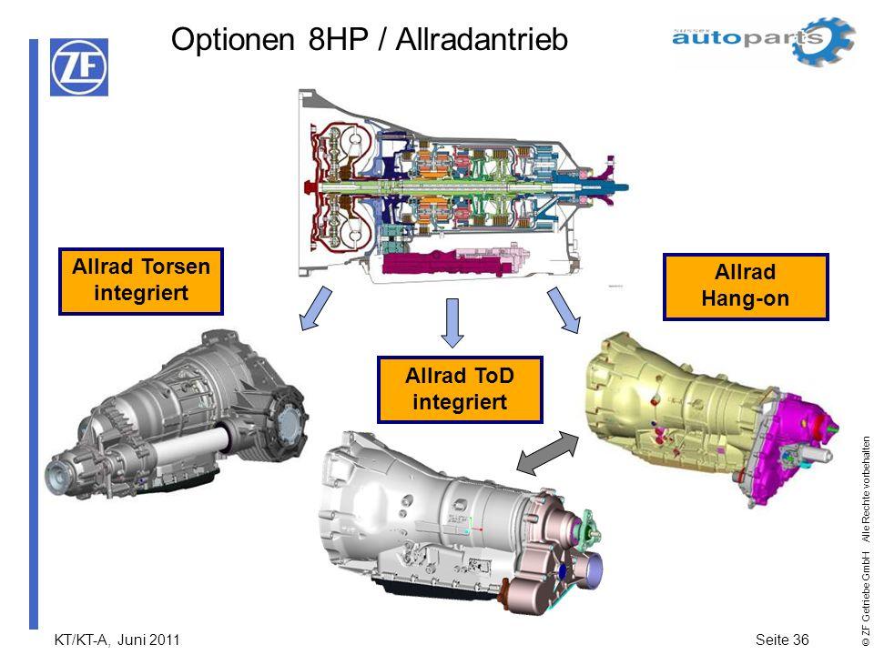 Optionen 8HP / Allradantrieb
