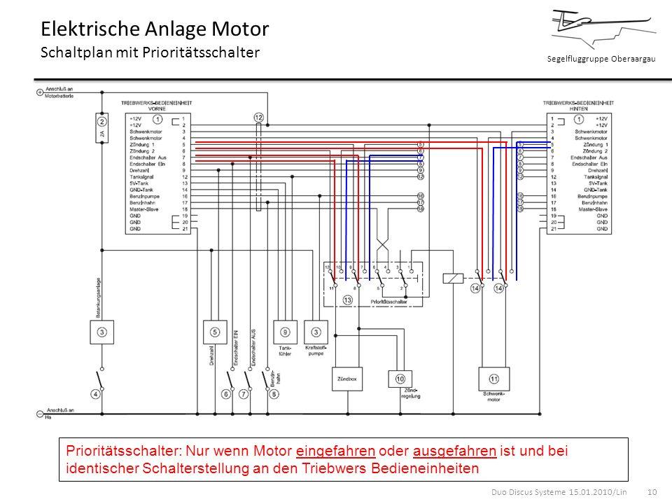 Elektrische Anlage Motor Schaltplan mit Prioritätsschalter