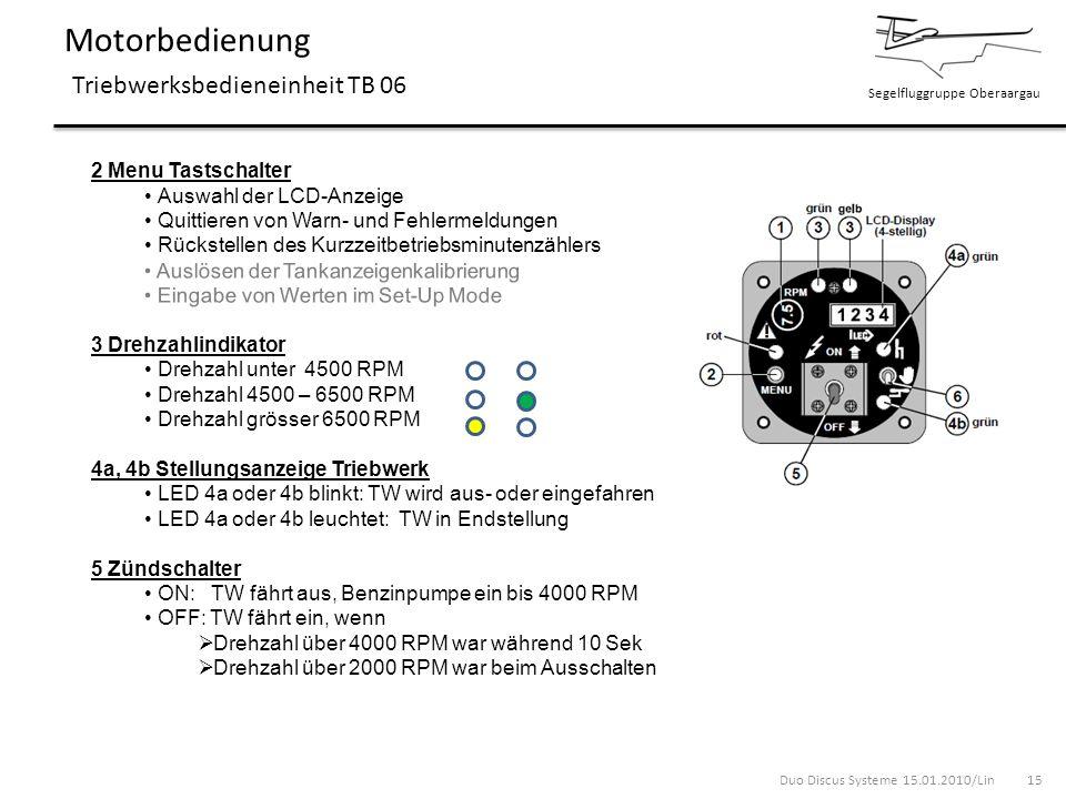 Motorbedienung Triebwerksbedieneinheit TB 06