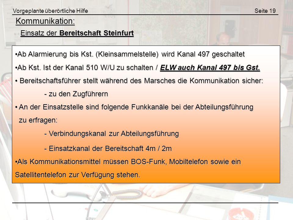 Kommunikation: Einsatz der Bereitschaft Steinfurt