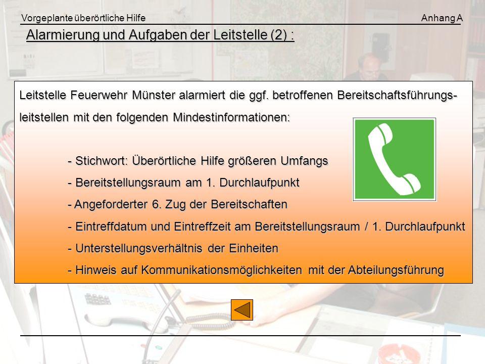 Alarmierung und Aufgaben der Leitstelle (2) :
