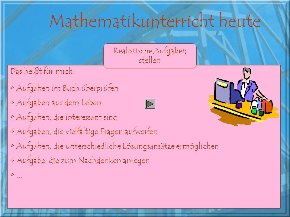 Mathematikunterricht heute