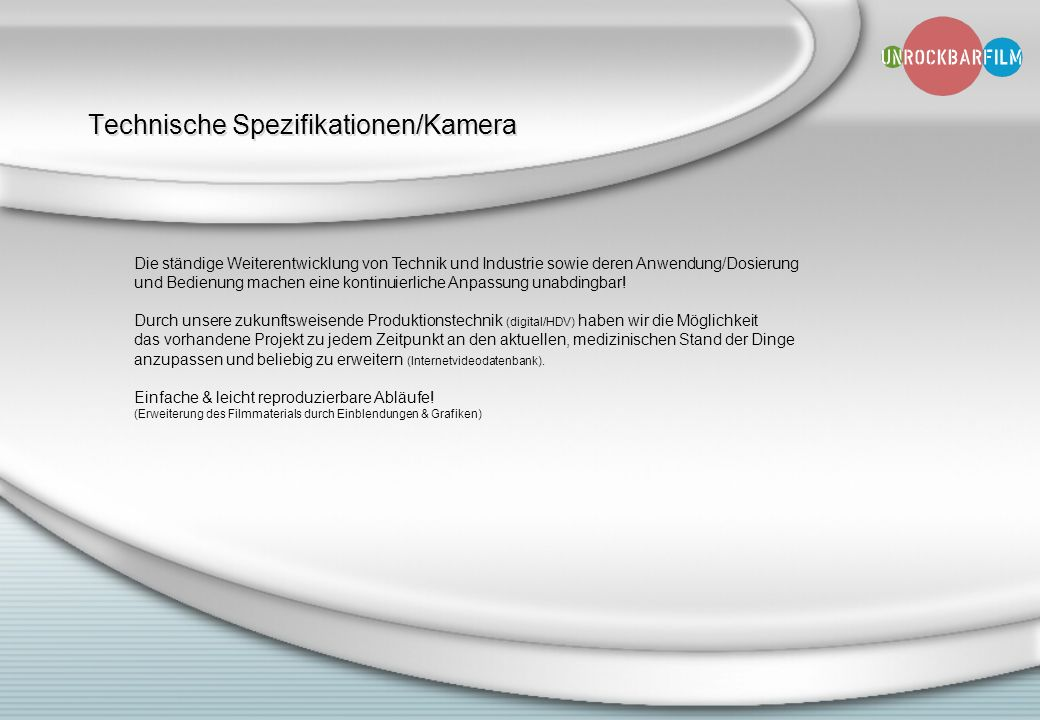 Technische Spezifikationen/Kamera